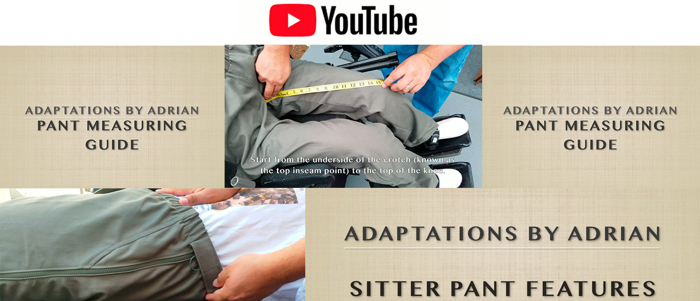 Adaptations By Adrian - Home Page - Adaptive Wheelchair Clothing